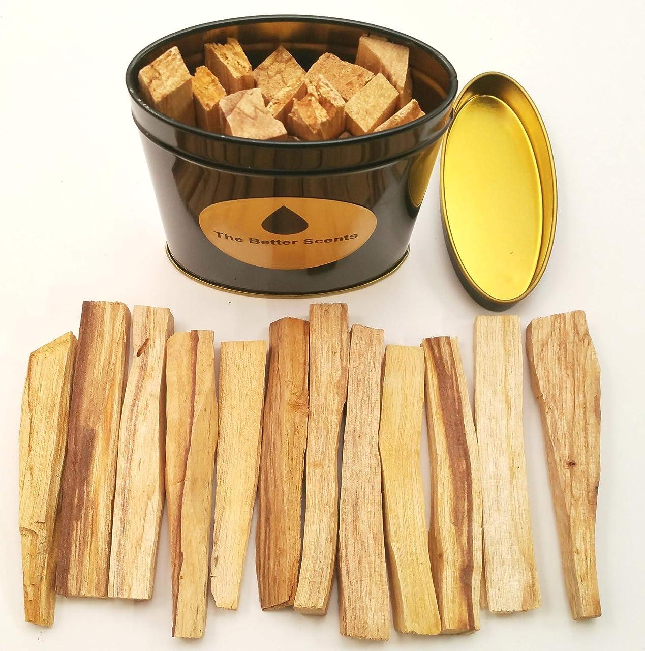 ありそうモードリンフォーラムPalo Santo Sticks ギフトボックス - オーガニックな野生収穫 本物の100%天然無成型パロサント スマッジスティック