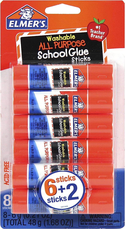 Elmer's All Purpose School Glue Sticks 6g E Washable El Paso Mall 8 Ranking TOP6 Count
