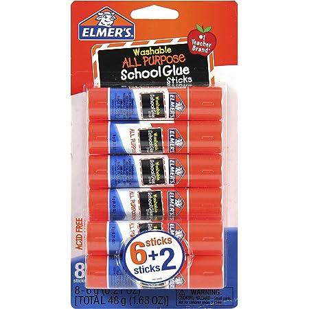 Elmer's All Purpose School Glue Sticks, Washable, 6g, 8 Count (E5004), White