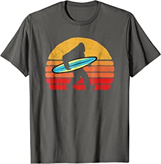 Bigfoot Silhouette & Surfboard - Sasquatch Surf & Sun Shirt