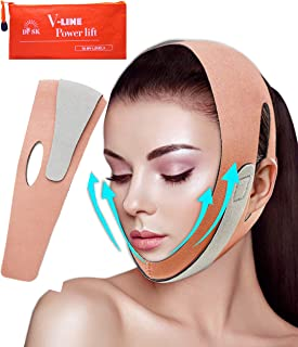 Extra Length Double Chin Reducer, Face Shaper, Face Slimmer, V-Line Lifting, Face Slimming Strap, Pain-Free Face Band Eliminates Sagging Skin, Facial Weight Loss Belt, Chin Strap for Double Chin