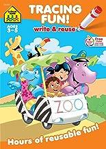 School Zone - Tracing Fun! Write & Reuse Workbook - Ages 3 to 5, Preschool to Kindergarten, Letters, Pre-Writing, Numbers, Shapes, Wipe Clean (School Zone Write and Reuse Book Series)