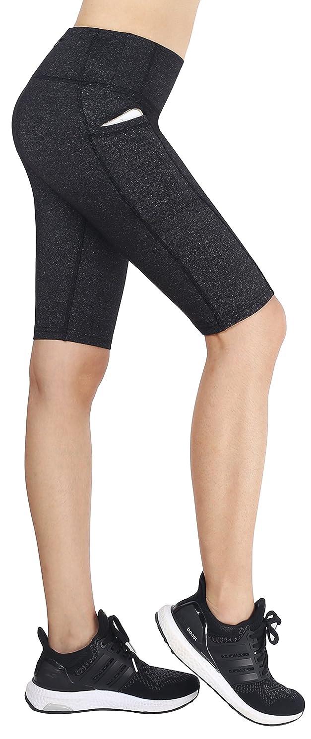 Neonysweets Womens Running Workout Yoga Shorts Half Tights Pockets