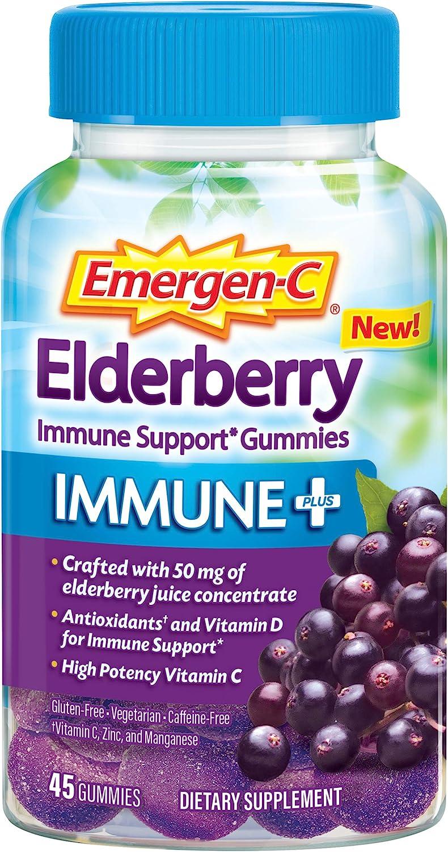 Emergen-C Immune+ Elderberry Gummies 750 Vita 2021 spring and summer new C mg Vitamin Limited price with