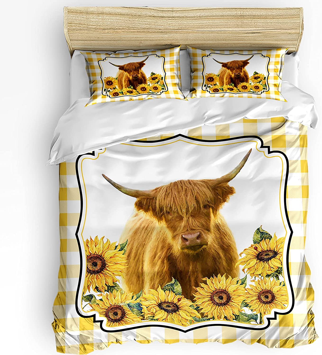 Duvet Cover Set Arlington Mall Breathable Comforter Closure Zipper Be super welcome with A