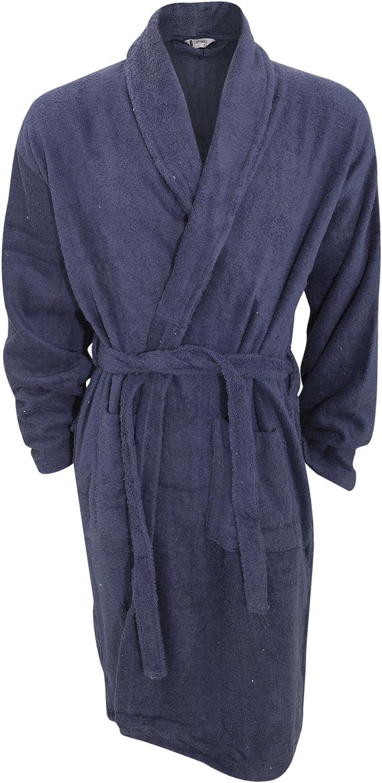 Universal Textiles Mens Plain Cotton Towelling Robe/Dressing Gown