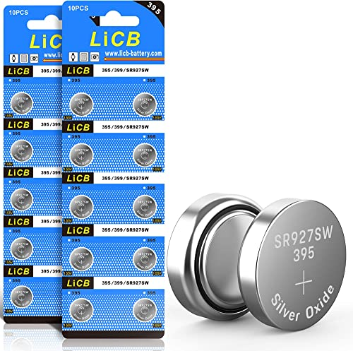 LiCB 20 Pack SR927SW 395 399 AG7 Battery 1.5V Watch Batteries