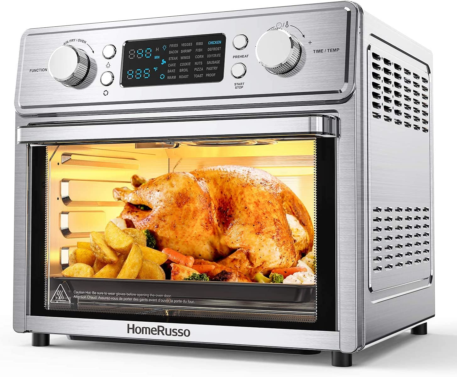 HomeRusso 24-in-1 Industry No. 1 Air Fryer Oven Quart 26.3 In stock Convection To Large