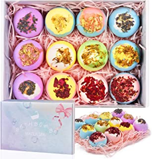 Sponsored Ad - 12 Bath Bombs Gift Set, Handmade Bubble Bath Bombs with Organic Essential Oil & Natural Dry Flowers, Fizzie...