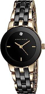 Anne Klein Women's Diamond-Accented Ceramic Bracelet Watch