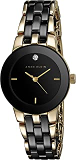 Anne Klein Women's Diamond-Accented Ceramic Bracelet Watch