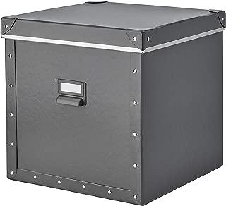 IKEA.. 204.040.19 Fjälla Storage Box with Lid, Dark Gray