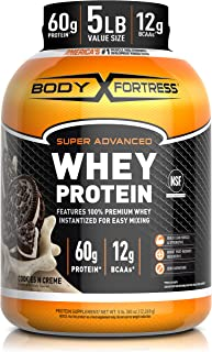 Sponsored Ad - Body Fortress Whey Protein Powder 5 lb, Cookies n Creme