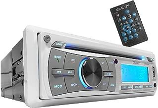 Gravity MGR-208BT 300W Single Din Marine Boat/Yatch Receiver Bluetooh/CD/SD/USB/Aux/AF/FM/MP3 Player