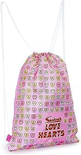 Love Hearts Mochila de Cuerdas para Niñas, Mochilas Mujer Casual para Gimnasio Playa, Bolsa de Tela Deporte Colegio Actividades Extraescolares, Regalos Mujer Niñas Adolescentes