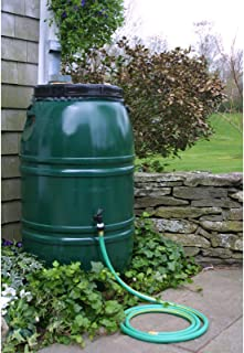Painted Rain Barrel - Forest Green