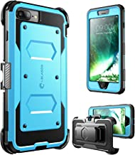 i-Blason Armorbox Series Case Designed for iPhone 7 Plus/iPhone 8 Plus, [Built In Screen Protector] [Full body] [Heavy Duty Protection ] Shock Reduction / Bumper Case (Blue)