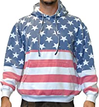 Licensed-Mart Originals Unisex Proud American Flag Pullover Hoodie Sweatshirt