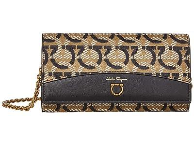 Salvatore Ferragamo Travel Wallet On A Chain (Gancini Print) Handbags