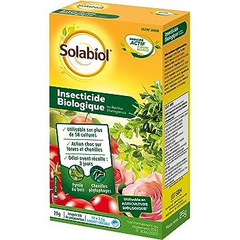 Solabiol SOBIOJ25 Insecticide Biologique 25 G Soit 10 Sachets de 2,5G | Juqu'à 50L de Préparation | Utilisable en Agricu, Neutre