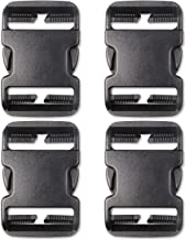 DYZD Multi-Size Plastic Buckle Repair Kit Quick Release Buckles No Sewing Required Buckles for Backpack Bag (4pcs Black,50 mm)