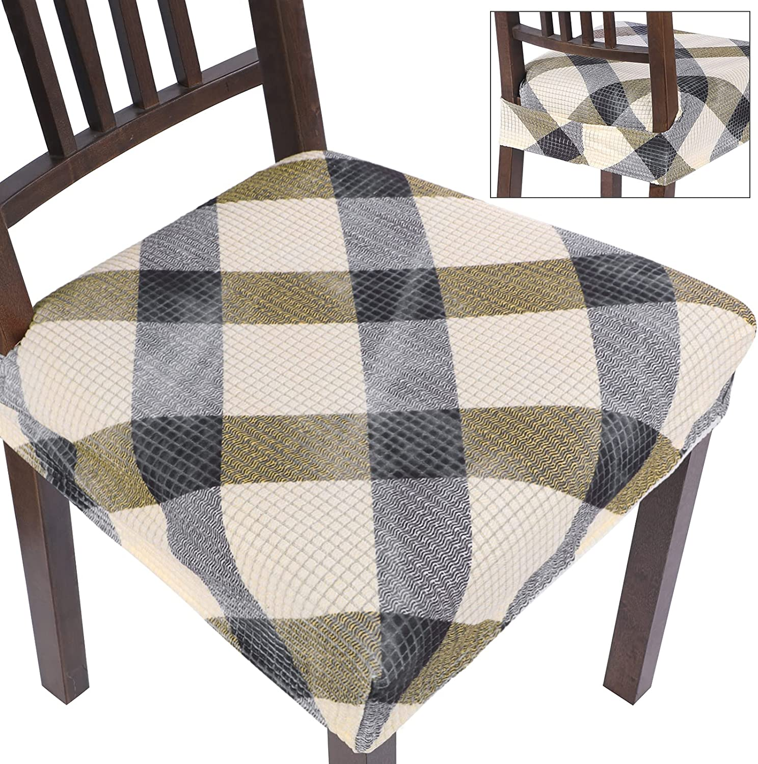 SearchI Chair Seat Covers for Stretch Was Ranking TOP6 Removable Room Max 89% OFF Dining