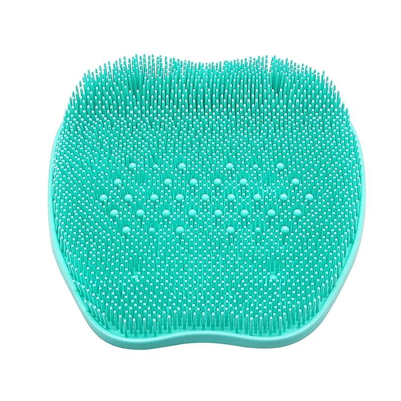 悪性スカルクポークCERRXIAN フットブラシ フットグルーマー 足洗いマット 足裏の血行促進 足裏爽快フットブラシ角質 臭い 防止、シリコンフットバーシュスクラバーマッサージャーシャワーフットブラシディープクリーンエクスフォリエイトスパが循環を促進(ビーズ、緑)