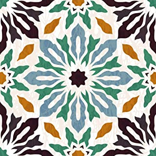 Poromoro Spanish Portuguese Azulejo Style Peel and Stick Tile Stickers Set of 16 pcs (3.9, 11)