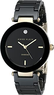 Anne Klein Women's Alice Quartz Watch with Analogue Display and Ceramic Strap