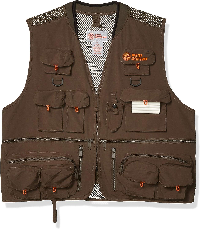 Master Sportsman Men's 27 Pocket Vest Fishing Luxury goods Long-awaited Back Mesh