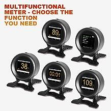 AUTOOL X60 Car OBD GPS HUD Multi-function Digital Meter Alarm Speed Water-Temp Gauge Malfunction-Test for 12V OBD-II Standard Vehicles Automotive Display Hud