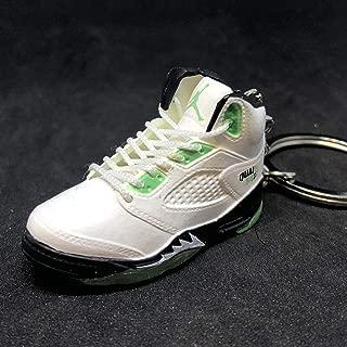 Air Jordan V 5 Retro Quai 54 White Green Q54 OG Sneakers Shoes 3D Keychain Figure
