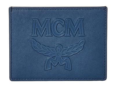 MCM Coburg Injection Card Case (Deep Blue Sea) Handbags