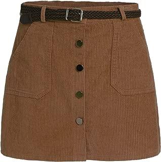 corduroy button down skirt