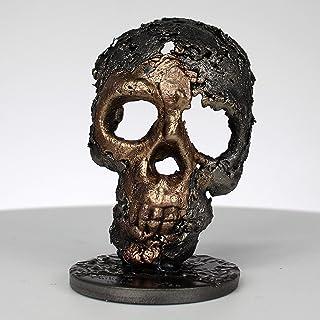 Grúa CXXXXVI - Escultura cráneo acero bronce