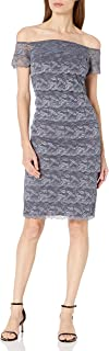 Marina Women's Off Shoulder Tiered Lace Dress