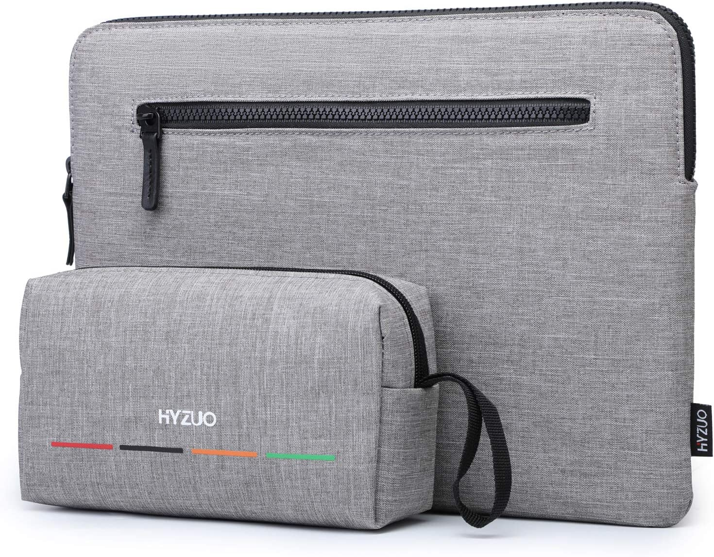 HYZUO 13 Inch Laptop Sleeve Slim Case Compatible with MacBook Air 13 M1 2018-2021/MacBook Pro 13 M1 2016-2021/Dell XPS 13/Surface Pro X 7 6 5 4 3/iPad Pro 12.9 2018-2021 M1/Samsung Galaxy Book S, Gray
