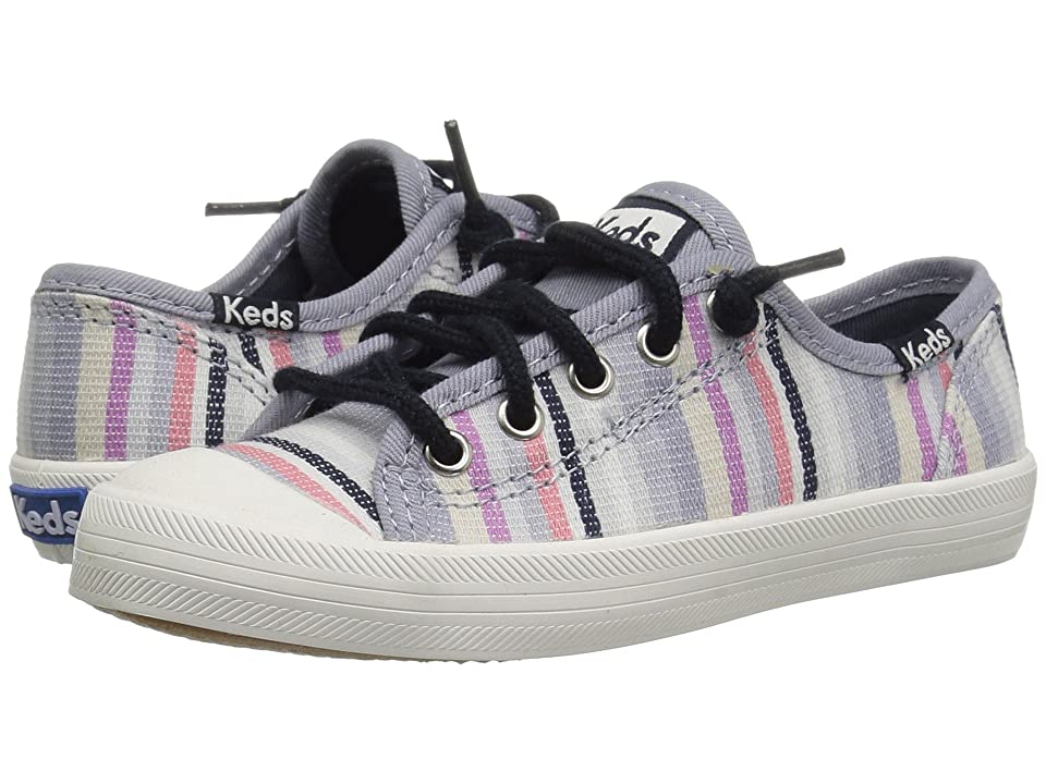 Keds Kids Kickstart Seasonal Toe Cap (Little Kid/Big Kid) (Relaxed Multi Stripe Textile) Girls Shoes