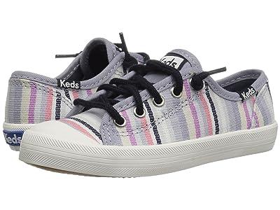 Keds Kids Kickstart Seasonal Toe Cap (Little Kid/Big Kid) (Relaxed Multi Stripe Textile) Girls Shoes