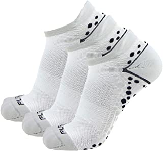 Pure Compression No-Show Anti-Blister Running Socks - Moisture Wicking Sport Socks for Men, Women