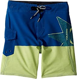 Volcom Kids - Lido Block Mod Boardshorts (Toddler/Little Kids)