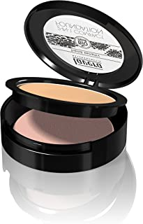 Lavera 2 In 1 Compact Foundation (Honey #3), Natural Skin-Perfecting, Transparent, Light To Heavy Coverage (Gives Medium to Olive Toned Skin) 10g/0.3oz