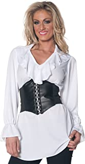Underwraps Womens Pirate Ruffled Blouse