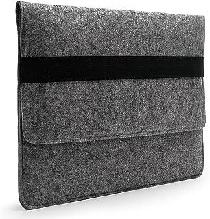 "Lavievert Handmade Gray Felt Case Bag Sleeve Protector with Black Elastic Band for Apple 13"" MacBook Air/ 13"" MacBook Pro / 13"" MacBook Pro with Retina"