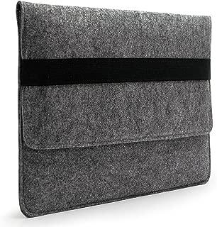 Lavievert Handmade Gray Felt Case Bag Sleeve Protector with Black Elastic Band for Apple 13