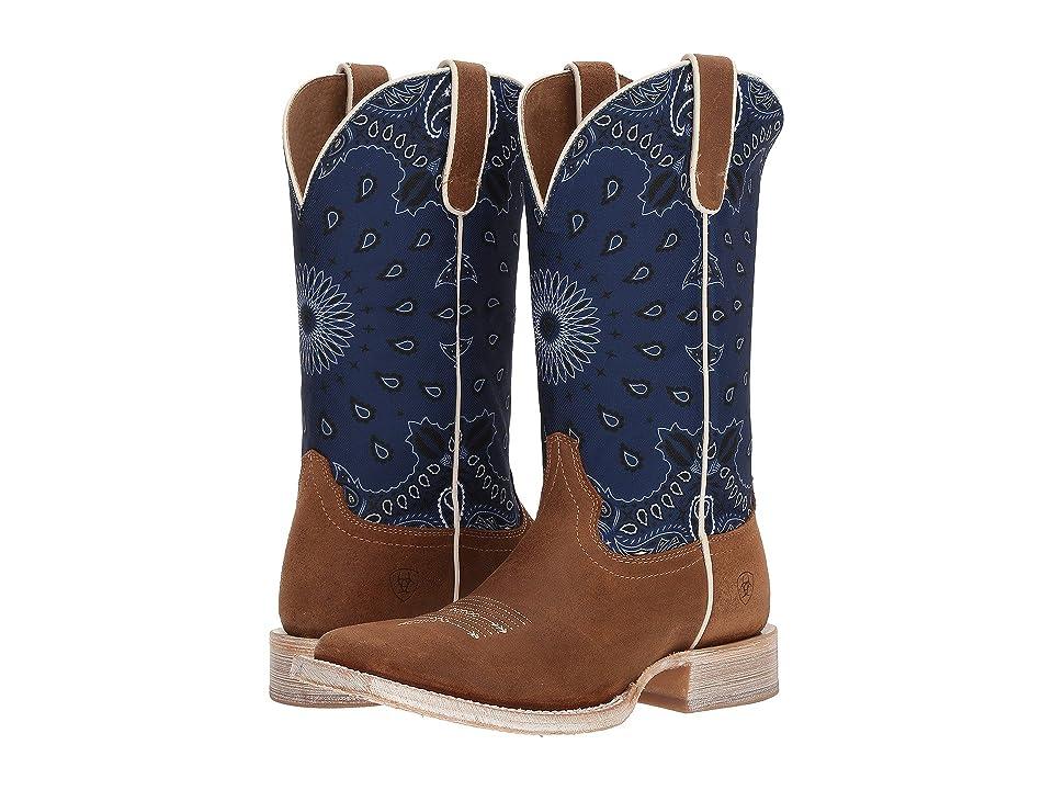 Ariat Circuit Savanna (Taurus Tan/Blue Paisley Print) Cowboy Boots