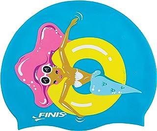YOUDirect Kids Swim Caps Cartoon Swimming Caps Silicone Children Swim Cap for Girls Boys Long Short Hair