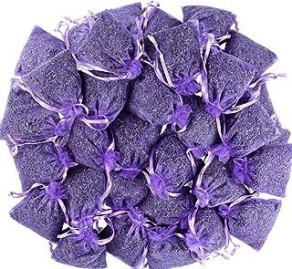 LEIKAIHUA Lot de 30 sacs remplis de lavande 100 % naturelle (7 x 9 cm) anti-insectes et anti-mites pour vêtements, tiroirs...