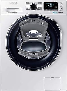 Samsung WW80K6404QW/EG Waschmaschine FL/A/116 kWh/Jahr/1400 UpM/8 kg/Add Wash/WiFi Smart Control/Super Speed Wash/Digital Inverter Motor