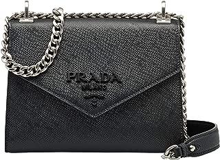 Cahier/Sidonie/Monochrome Saffiano leather shoulder bag for women